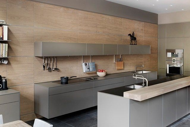 Bulthaup, Sawn Oak Panelling, Wine Fridge - Kitchen Design Ideas (houseandgarden.co.uk)