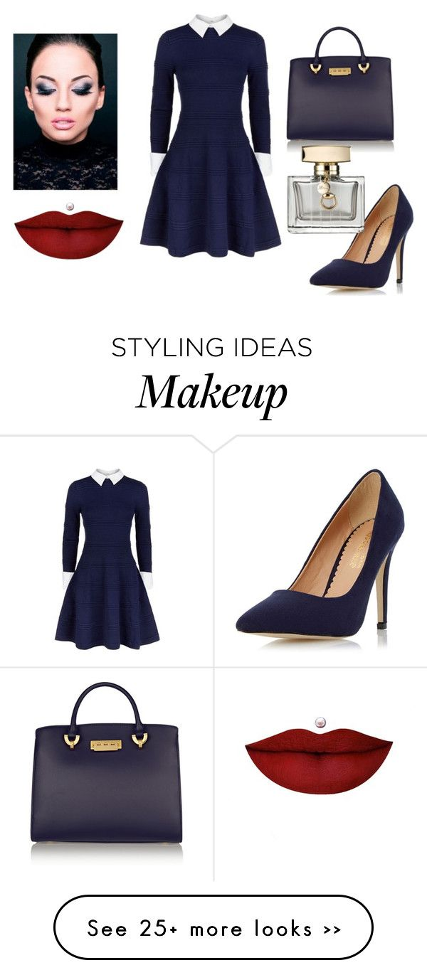 """Untitled #549"" by doinacrazy on Polyvore featuring Alice + Olivia, Dorothy Perkins, ZAC Zac Posen, Anastasia Beverly Hills and Gucci"