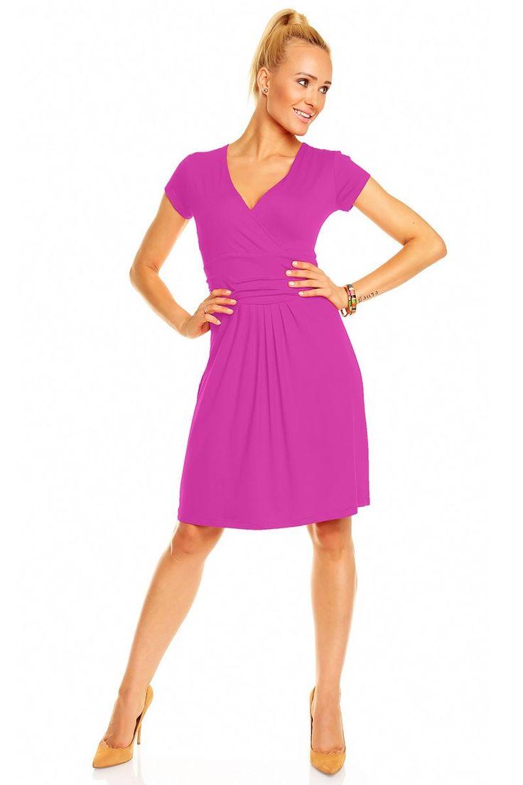 A sosit sezonul rochiilor colorate. Descopera toate culorile. Rochie Nikola cu maneca scurta - Astratex.ro