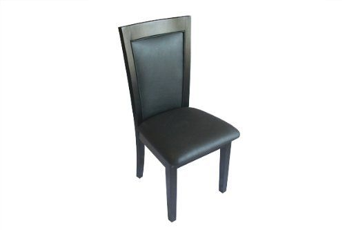 BBO Classic Leather Dining Chair - Piano Black by BBO Poker Tables. $430.00. 2 Chairs per order. Premium 5 coat paint plus gloss finish. 39 Inch high back design. Premium soft leather vinyl (matches BBO custom tables). Solid oak leg and back structures. Elegant poker table chairs to match your high end custom poker table set. Shop professional poker tables and chairs!  Compliment your BBO Poker Table custom table with our premium matching classic dining style poker table chair...