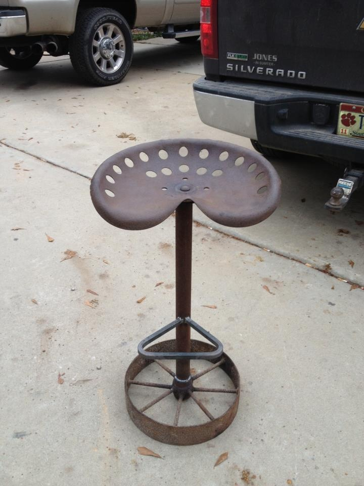 Metal Tractor Seat With Wheels : Best images about welding on pinterest more cattle