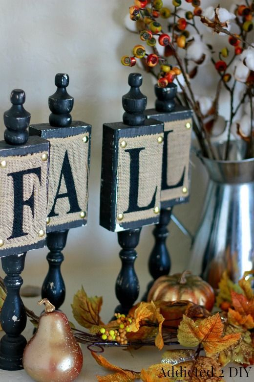 Repurposed DIY Fall Candlestick Decor - Use everyday home decor items to decorate for the different seasons.