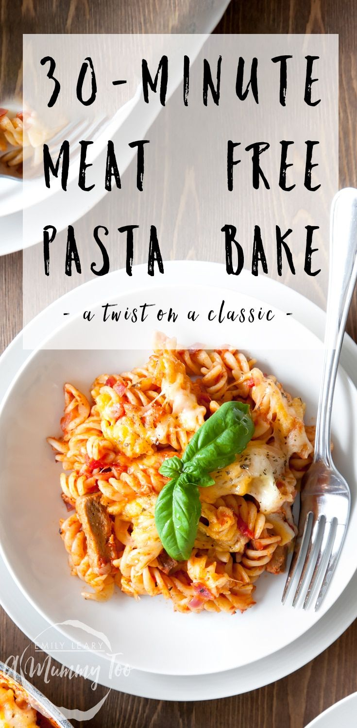 A delicious twist on the classic sausage pasta bake, this easy to make dish packs a flavourful punch with garlic, herbs and moreish Quorn Meat Free Steak Strips.