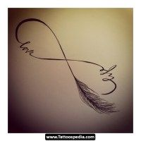 Infinity Symbol Tattoo. This may be a good one to represent my bond w/my mom. Put our names instead of life and love. Maybe put it on my ankle. Any thoughts?