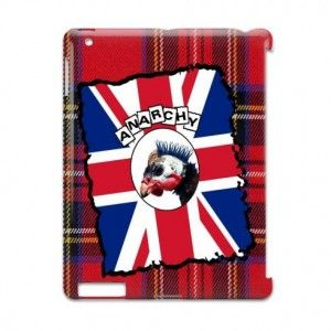 Funny British Punk flag by Oconnart. Funny British punk inspired design with Union Jack flag and red tartan plaid background