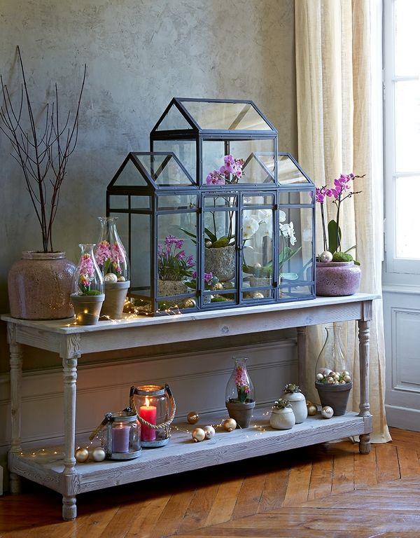 Collection jardin d 39 hiver no l romantique avec une for Decoration noel interieur
