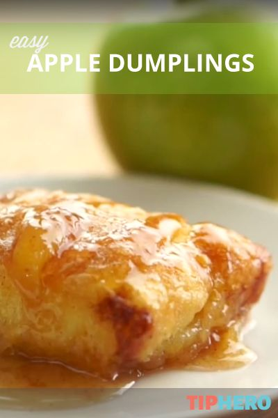 Easy Apple Dumplings |  ready-made crescent roll dough and Granny Smith apples are the key to this tasty dessert. Add a little vanilla ice cream for extra wow! #recipes #desserts #fall
