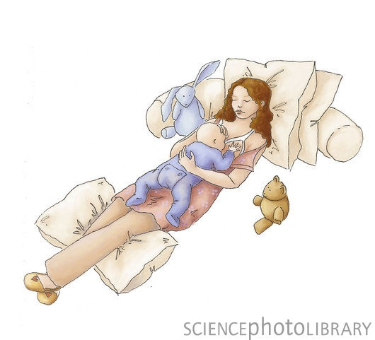 Try this out in the hospital! Laid back Breast-feeding can help you rest while nursing (great for those nighttime feeds or when you are just totally exhausted!) and can also help relieve latch-related pain