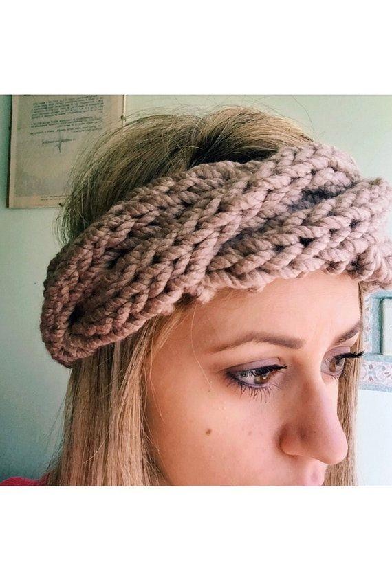 Braided knit Headband  fascia per capelli a di SoftAndCozyThings