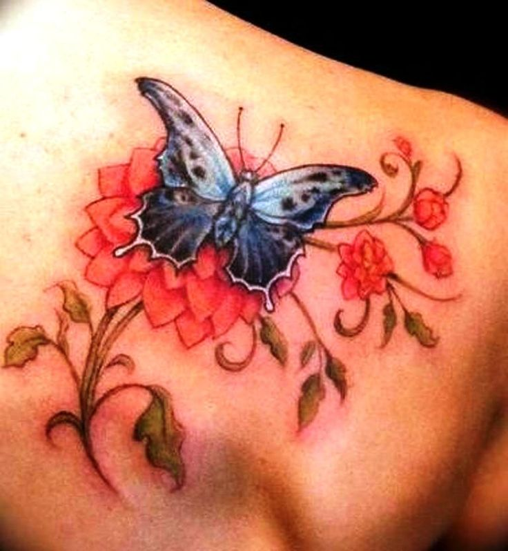 Exotic Flower Tattoos: 16 Best Butterfly Back Tattoos Images On Pinterest