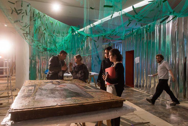 Chegada de obras de arte ao Museo Centro Gaiás. Exposición 'Camiño. A orixe'. Foto: Manuel G. Vicente.