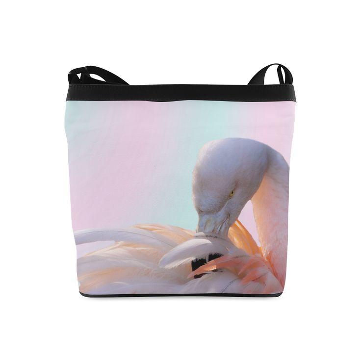 Flamingo Pink Mint Crossbody Bag. FREE Shipping. #artsadd #bags #flamingos