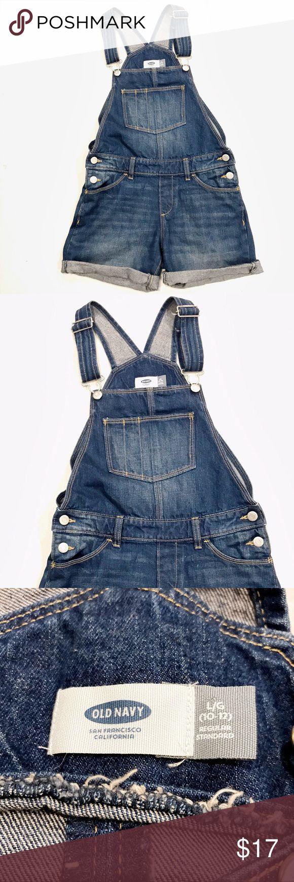 Old Navy  Girl jean overall shorts size L 10-12 Girl jean overall shorts by Old Navy Tag size L 10-12 (juniors)  Very good conditions  No trade no offers Old Navy Bottoms Overalls