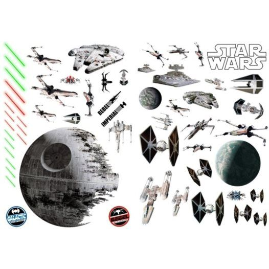 Disney - Star Wars Wallies Wallstickers