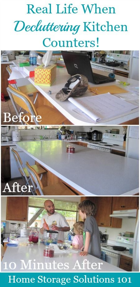 How To Declutter Kitchen Counters U0026 Make It A Habit
