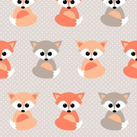 139 best images about paper animals on pinterest cute for Fox print fabric