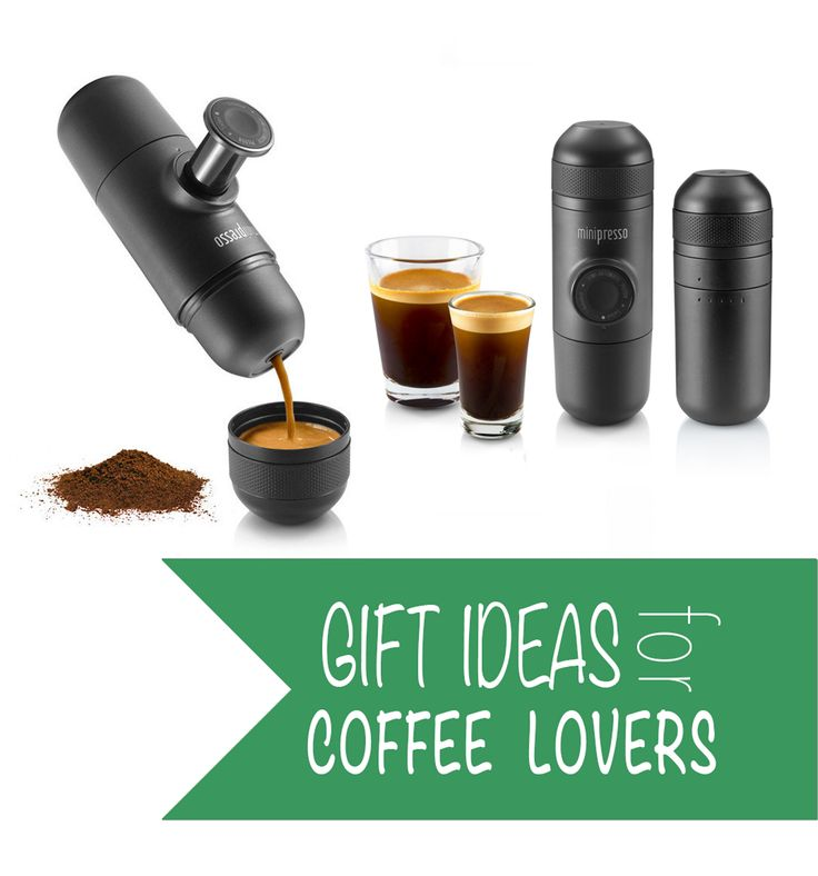 The Minipresso portable espresso maker is the perfect gift for your favorite coffee lover! #giftideasforcoffeelovers