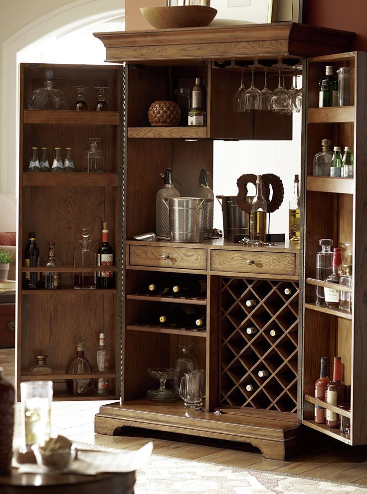 Features Wine Bottle Glass Storage Locking Mechanism Full Extension Drawer Guides Power Strip Home Bar Cabinet Bar Cabinet Design Bars For Home