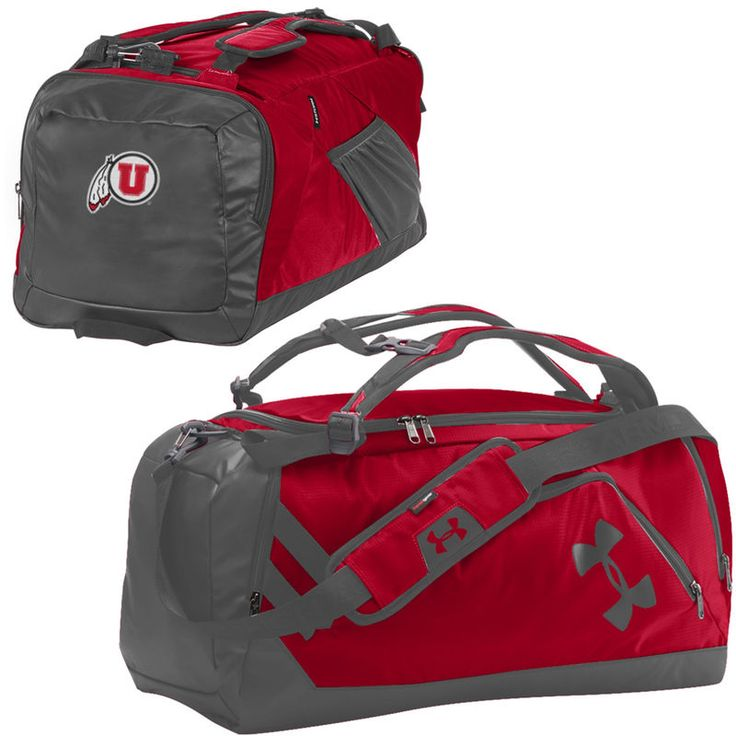 Utah Utes Under Armour Good Performance Backpack Duffel Bag - Red/Graphite