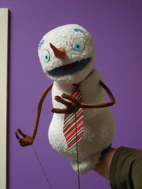 Snowman puppet. DSCN8253 by S W Johnson, via Flickr