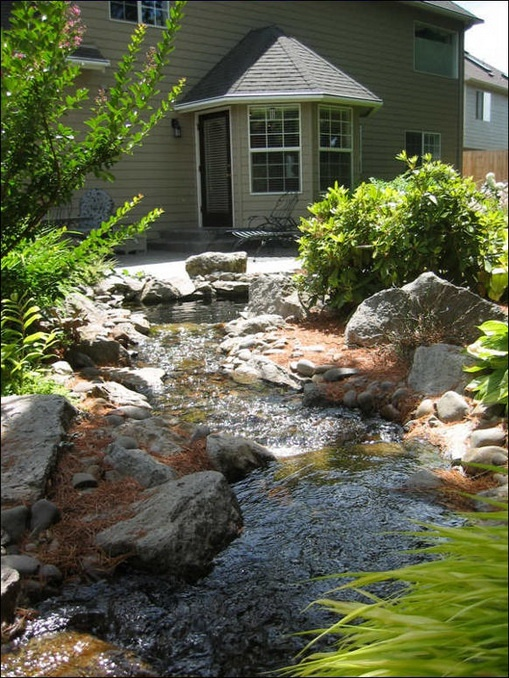 17 best images about erosion conrol on pinterest for Garden stream designs