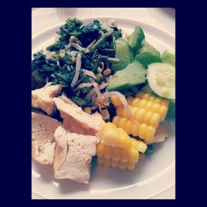 Gado Gado. Classic Indonesian boiled vegetables salad serve with peanut dressing