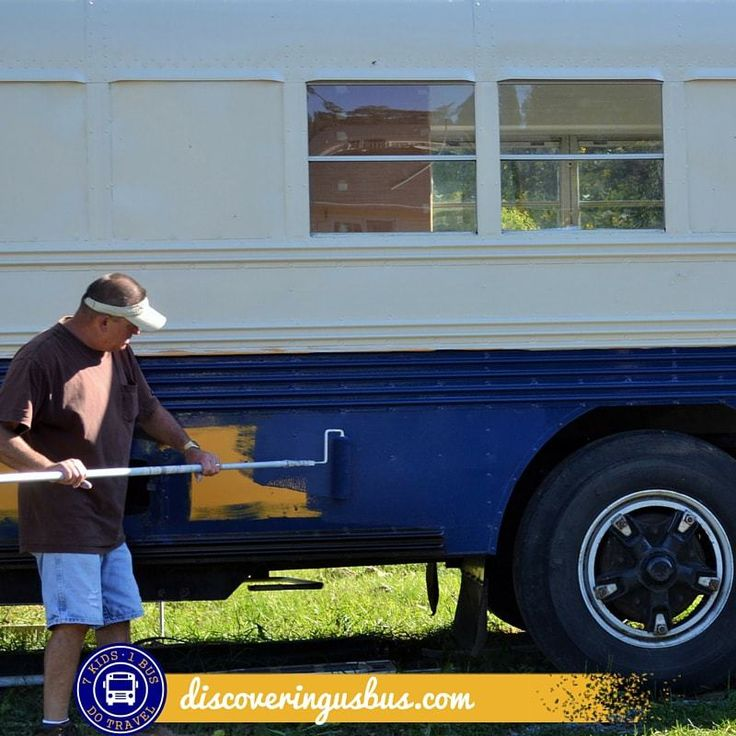 What are your options for painting a converted school bus? Read this post to find out how you can DIY for under $200.00 discoveringusbus.com