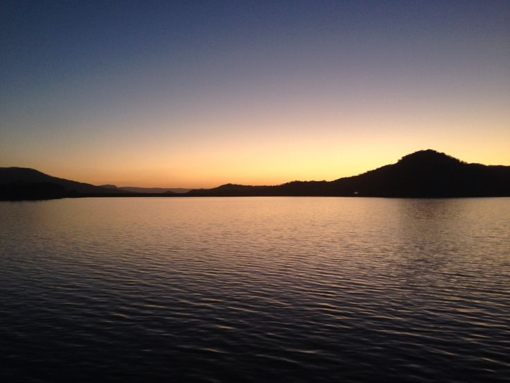 Spring sunset 2014 over #lakeeildon