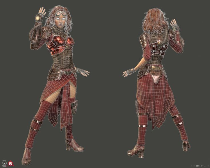 chandra nalaar 3d zbrush character marmoset toolbag 2 substance painter realtime game model magic the gathering mtg card game planeswalker fire sexy mage wizard woman red hair