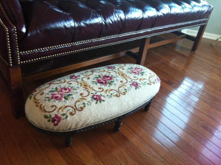 Image result for french crewel foot stool