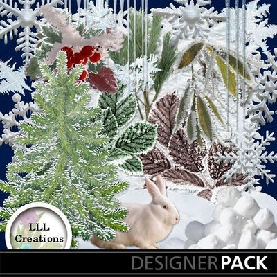 Frosty Embellishments Mini by LLL Creations #scrapbooking #digitalscrapbooking #winter #frosty #LLLCreations