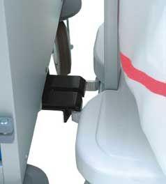 Système d'accrochage pour chariot 1 sac sur la gamme des chariots CHALIN XA1.