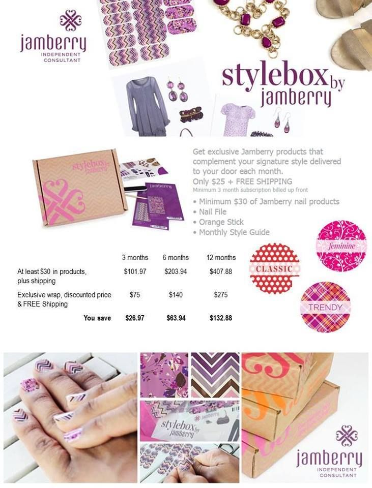 Who doesn't love getting fun mail!? Jamberry Style Box will be at your door step each month! #JamerryNails #style #NailArt