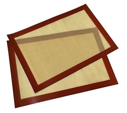 YoYo Moon Silicone Baking Mat Cookie Baking Sheet Set (2) - Non Stick Cookie Sheets Bake Mat Professional Grade