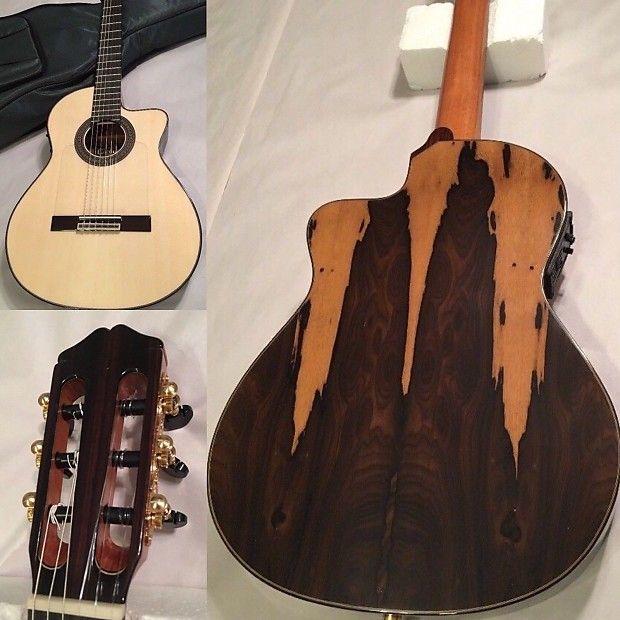 Cordoba 55fce Negra Limited Ziricote Acoustic Electric Thinbody Flamenco Guitar High Quality Soft Case I Guitar Acoustic Electric Guitar Classical Guitar