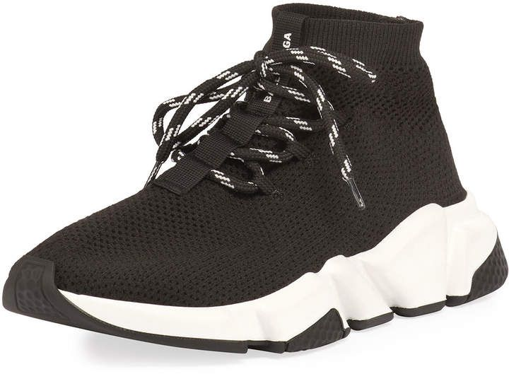 Balenciaga Speed Lace Up Knit Trainer Sponsored Sponsored