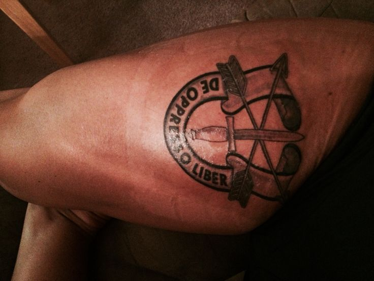 My most recent tattoo. For my grandfather. Army Special ...