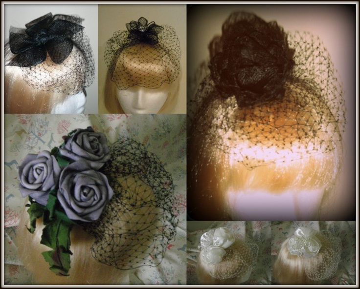 hairpieces/fascinators by evil evie