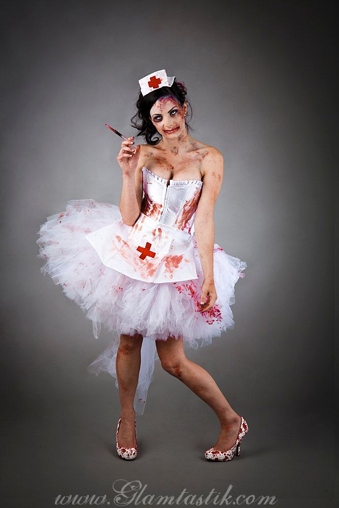 Size small Bloody Nurse Costume Burlesque Ready to Ship. $325.00, via Etsy.