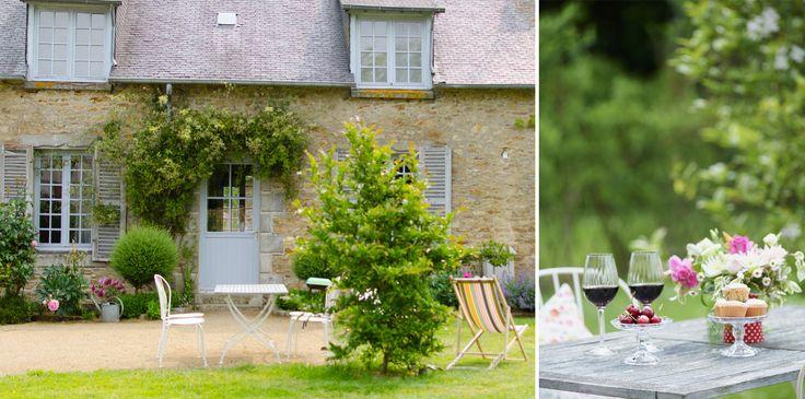 Le jardin du gîte de charme Louise en Bretagne