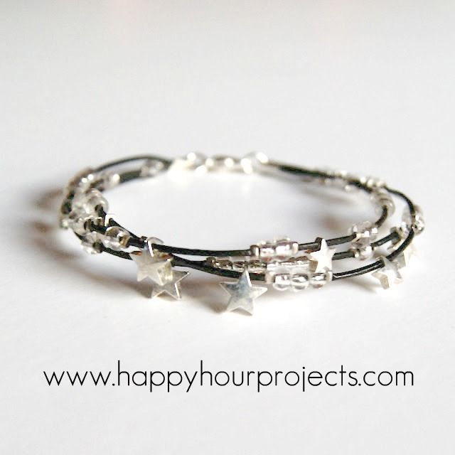 beaded bracelet tutorial. with pictures.  leather cord, crimp beads, seed beads and closure.