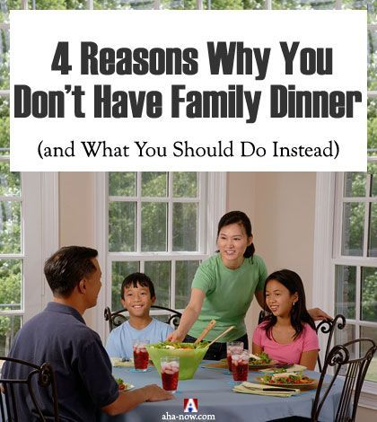 What do you do to keep your family bonded together? There's one thing that you should do - have family dinners! Yes, a family dinner time can help you bring your family together and create moments of happiness. Here are some common excuses for not having family dinners and tips on what you can do to have a quality family dinner time at home.More at the blog. :) #family #familytime #familydinner #dinnertime #AhaNOW #blogpost #happiness #together #kids #children #familytravel #familyvacation