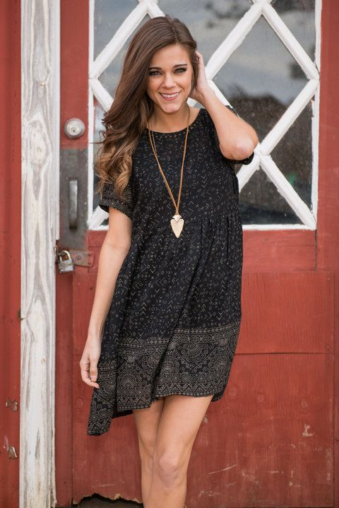"""""""Adrenaline Rush Dress, Black"""" 