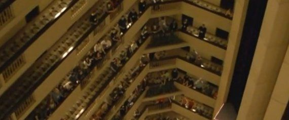 Choir Sings National Anthem From All 18 Stories Of A Hotel, Internet Collectively Weeps