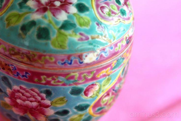 Peranakan pottery, reminds me of my grandma