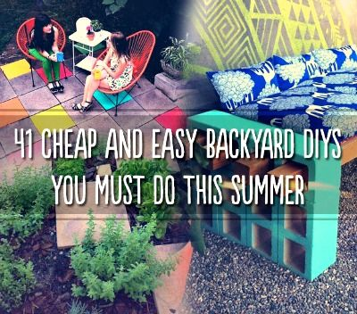 41 Cheap And Easy Backyard DIYs You Must Do This Summer http://diyhomesweethome.com/41-cheap-and-easy-backyard-diys-you-must-do-this-summer/