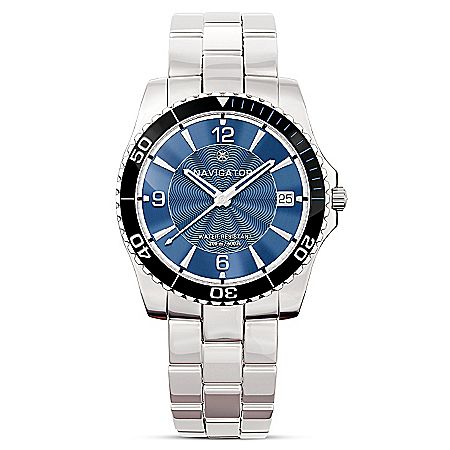 Navigator Men's Water Resistant Stainless Steel Watch