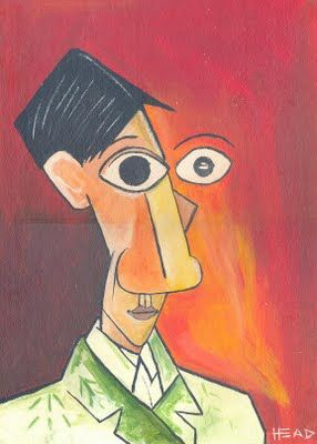 Pablo Picasso, Self portrait.                                                                                                                                                                                 More