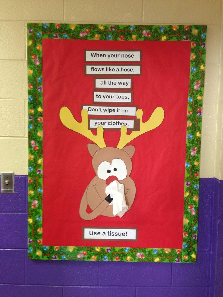 December bulletin boards middle school kern s counselor for Cork board decorating ideas pinterest