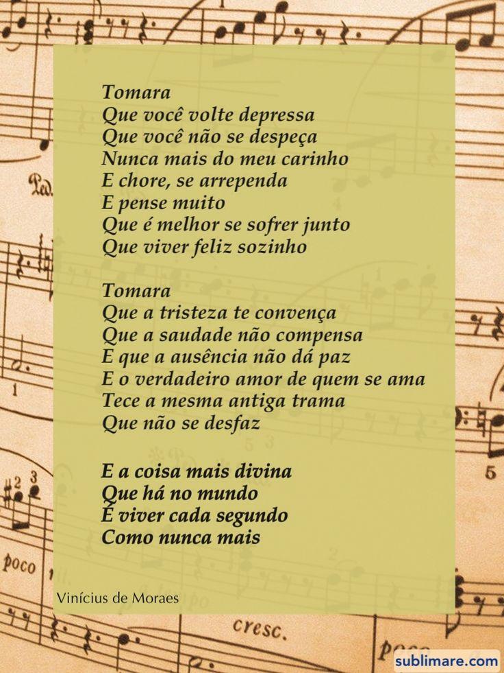Tomara, Vinícius de Moraes / Citações de amor